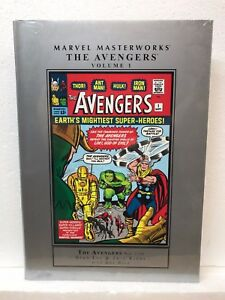 MARVEL-MASTERWORKS-AVENGERS-VOL-1-1-10-Hardcover-HC-NEW-MSRP-50