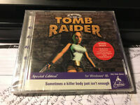 Microsoft Windows 95 Softkey tomb Raider Cd-rom Pc Video Game + Free Demos