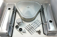Sb Chevy Sbc Short Chrome Engine Dress Up Kit W/ Triangle Air Cleaner 283 350