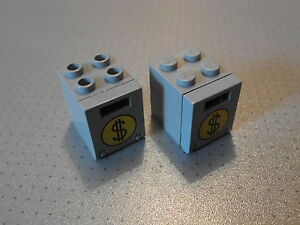 Lego - 2 Grey (Round $) Container / Post / Mail Boxes 2x2x2 (4345 4346px5)