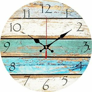 Image Is Loading Beach Theme Wall Clock Look Old Vintage Hanging