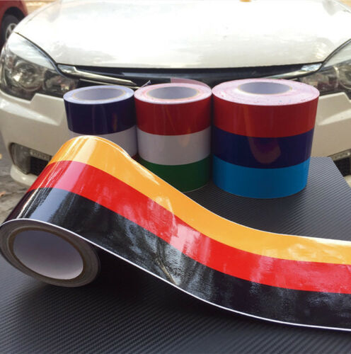 6M PVC Self adhesive sport style Auto Car Sticker Stripe Decal Decoration 1 roll