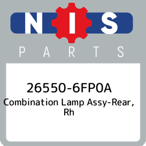 26550-6FP0A-Nissan-Combination-lamp-assy-rear-rh-265506FP0A-New-Genuine-OEM-Pa