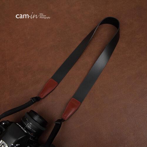 Leva De Cuero Negro-Correa de Cámara DSLR en CAM2246 Reino Unido Stock
