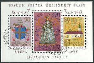 Offizielle Website Liechtenstein 830 Kleinbogen kompl.ausg. Postfrisch 1983 Johannes Paul Ii