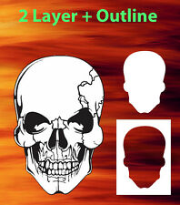 air brush stencil skull 23 outline extra template airbrush skulls ebay