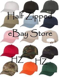 32ba12c27c6 Dad S Cap Baseball Hat - Yupoong Unstructured Classic Cap 6245CM