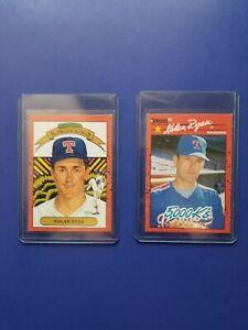 Nolan Ryan #665,659 1990 Donruss 2  Error Cards NM, King Of Kings 5ks+ Post17/20