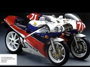 HONDA VFR750R RC30 VINTAGE MOTORCYCLE MOTORBIKE POSTER BROCHURE ADVERT A3