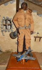 "1/6 Scale 12"" Custom GI Joe WWII Tuskeegee Airman Pilot loose"