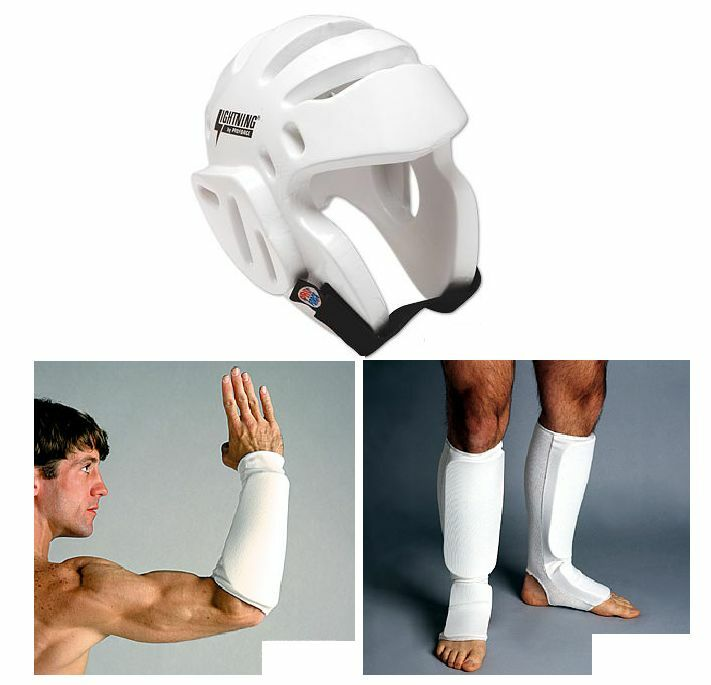 Taekwondo Sparring Gear Set Head Forearm Shin Instep Guards Tkd Pads Karate New