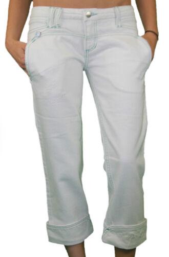 Nwt Custo Belona Damen Weiß Jeans Abschnitten Barcelona Capri EHD2IeW9Y