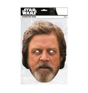 Luke-Skywalker-Star-Wars-The-Last-Jedi-Single-2D-Card-Party-Face-Mask