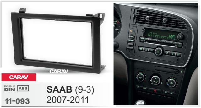 Saab 9-3 stereo radio Facia Fascia adapter panel plate trim CD surround Double