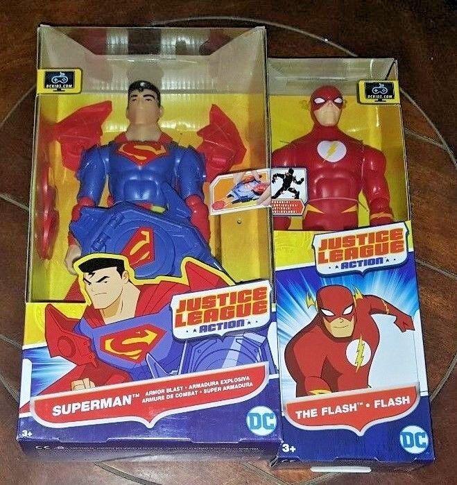 Die gerechtigkeitsliga aktion  superman rstung explosion & the flash 12