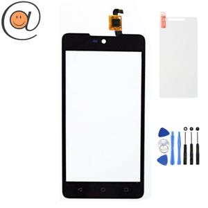 Vitre-Ecran-tactile-Wiko-Rainbow-Lite-4G-Noir-Outils-Protection