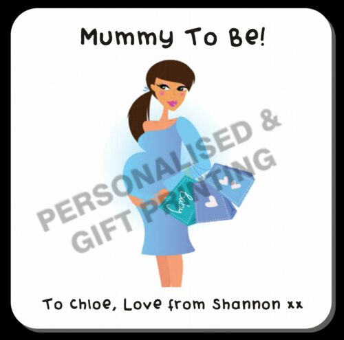 Personalised Mummy To Be Baby Shower Pregnancy Daddy To Be Coaster Gift Birthday