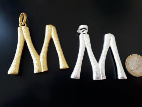"""De 1 A 15 Colgante Alta calidad Zamak LETRA /""""M/"""" abalorio personalizado letras"""