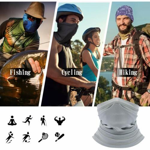 Summer Neck Gaiter Bandana Face Mask Anti Sun UV Fishing Cycling Men /& Women