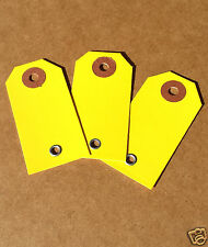 1000 yellow blank auto dealer key tags with eyelet repair or rental paper label