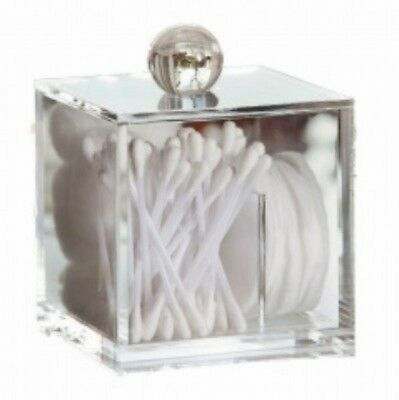 Storage Cube Box Cotton Wool Toiletries Hotel Guest House Bedroom Clear
