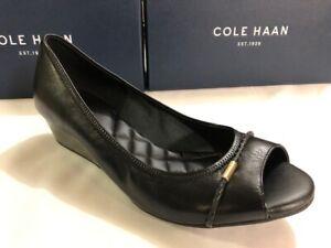 cole haan emory open toe wedge pump