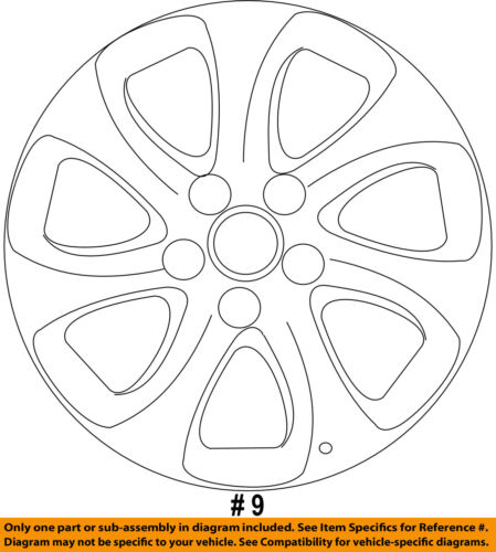 MAZDA OEM BBM237170 10-13 3 Wheels-Wheel Cover BBM2-37-170