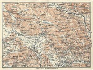 Cartina Geografica Roccaraso.Matese Molise Campania Carta Geografica Touring Club 1928 Ebay