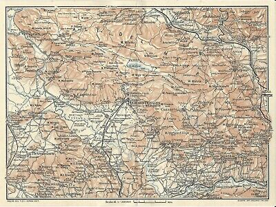 Cartina Del Molise Geografica.Matese Molise Campania Carta Geografica Touring Club 1928 Ebay