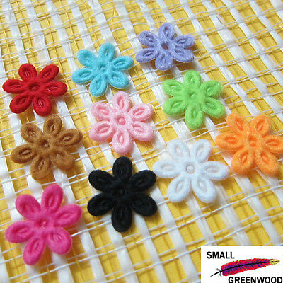 "(U Pick) Wholesale 50-500 Pcs 5/8"" Mini Padded Felt Flower Appliques F1900"
