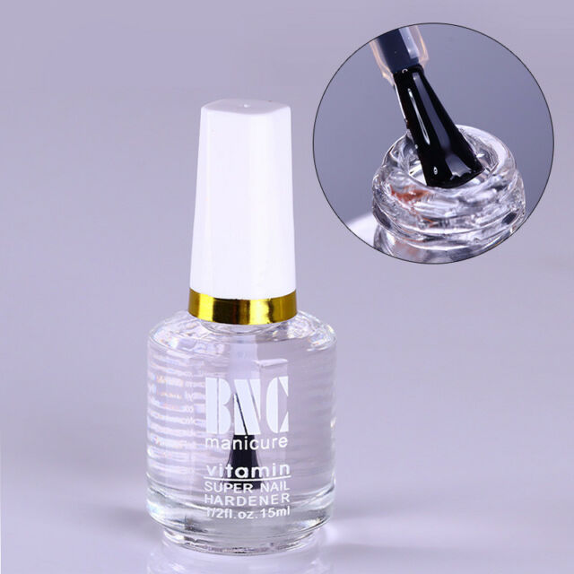 15ml Nail Art Hardener Vitamin Super Transparent Top Coat Polish Coat Cover Tool