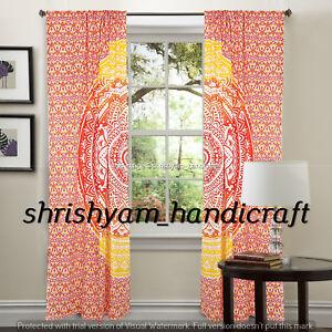 Bohemina-Indian-Cotton-Ombre-Mandala-Window-Hanging-Door-Large-Curtain-Valances
