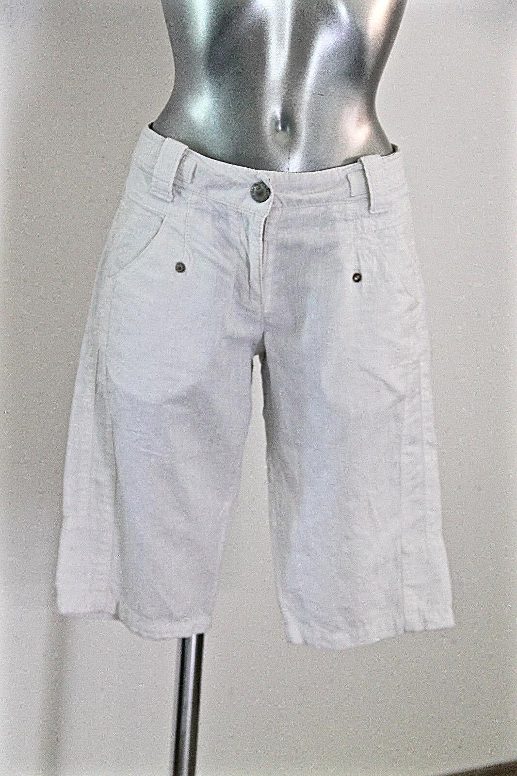 Pretty bermuda shorts safari trek cotton linen white woman NAPAPIJRI size 38 fr