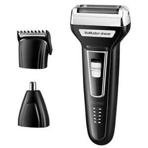 Kemei-3-in-1-For-Men-Barba-Rechargeable-Nose-Hair-Trimmer-USB-Electric-Shaver