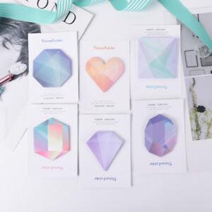 Diamond-Notebook-Memo-Pads-Self-Adhesive-Sticky-Office-School-Supplies-Memocda