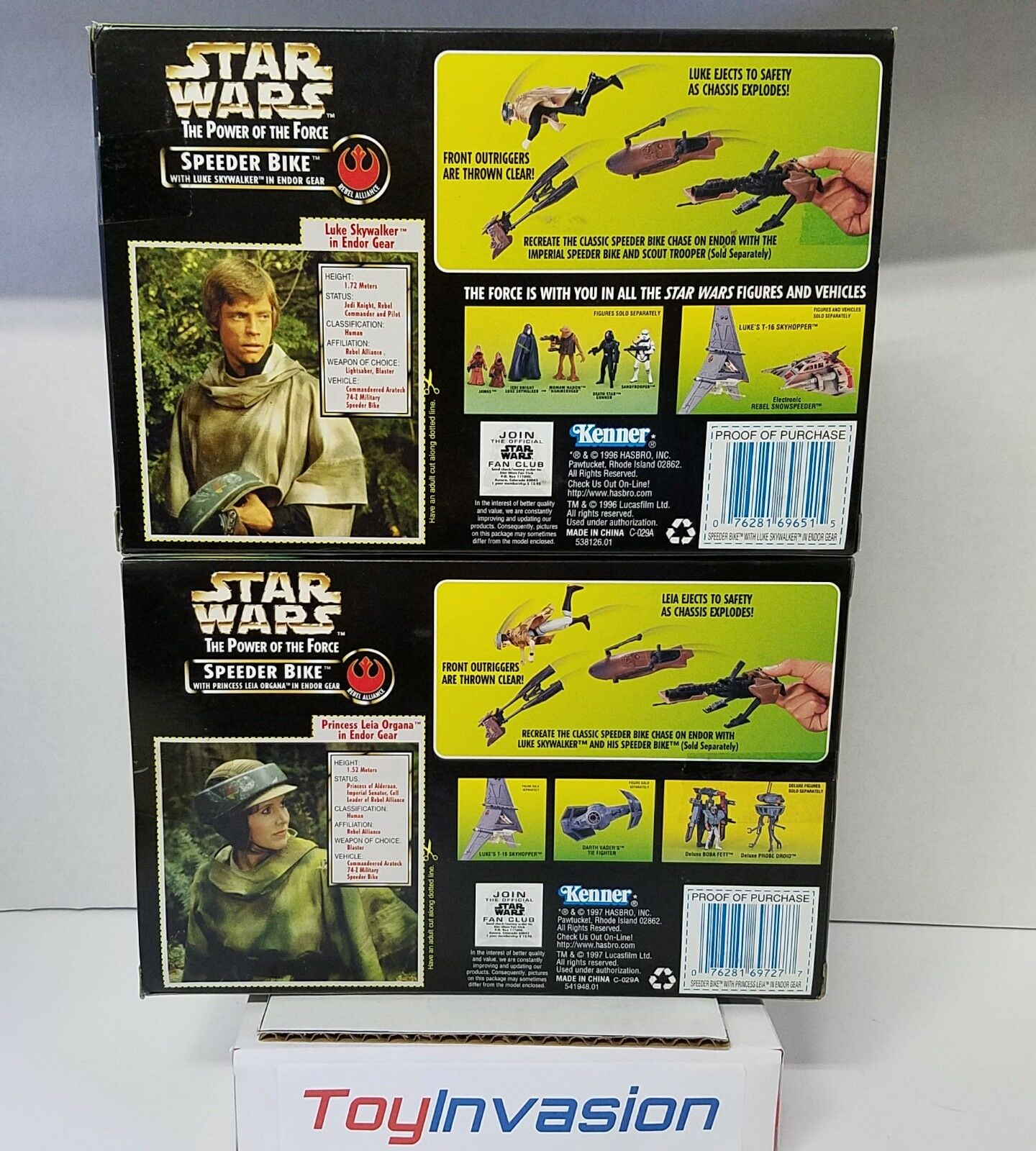 Star Wars 1996 Speeder Bike Bike Bike with Luke Skywalker and Princess Leia 2 Figure Set c1e090