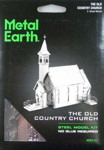 Metal Earth The Old Country Church 3D Metal Model Tweezers 11562