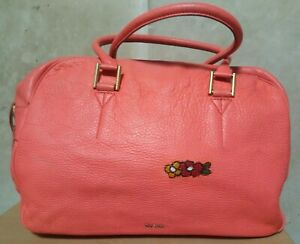 EUC PAUL SMITH soft leather slouchy duffle/document top handle bag in Peach