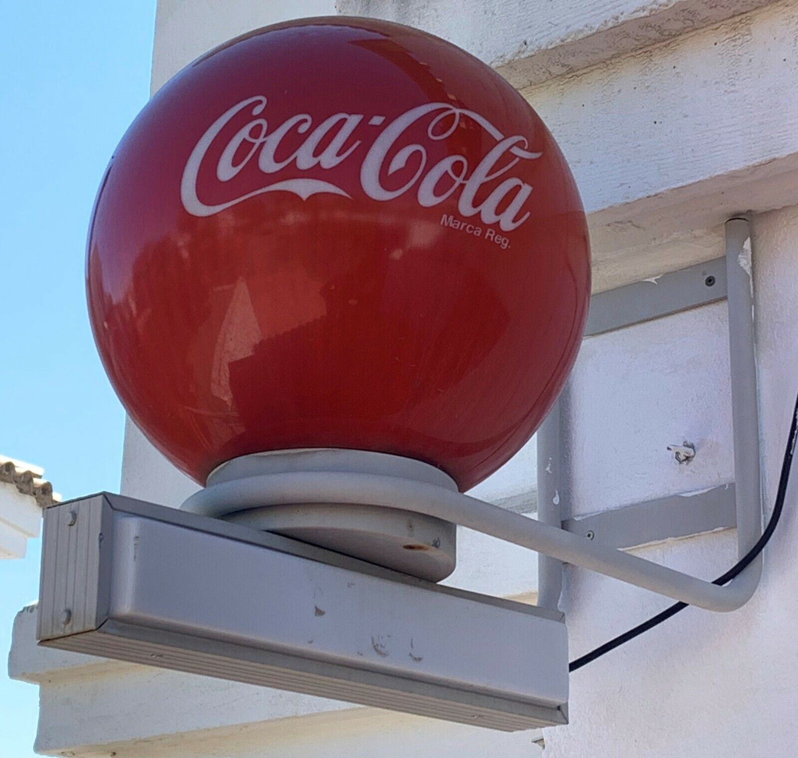 Original Coca Cola outdoor light sign