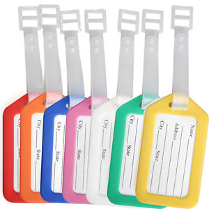 10PC-Travel-Luggage-Bag-Plastic-Tags-Name-ID-Cards-Travel-Bag-Suitcase-Label-New