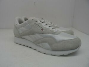 dac933bce96 Reebok Women s Classic Nylon Suede Casual Athletic Shoe White Silver ...