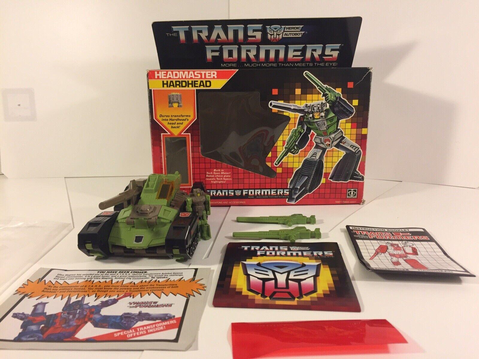 Transformers Original G1 1987 director Hardhead Completo Con Caja Como Nuevo