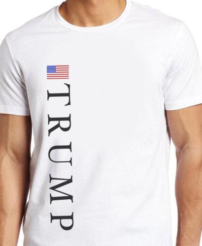 TRUMP AMERICAN FLAG White T-SHIRT  S,M,L XL,or 2XL