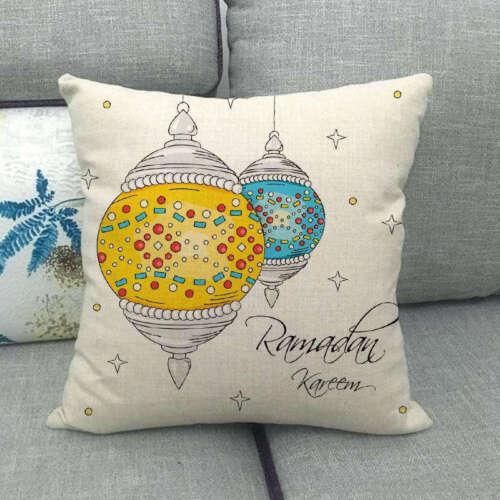 Ramadan Decoration Sofa Car Pillow Case Eid Mubarak Moon Mosque Cushion Cover