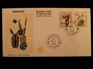 MONACO-PREMIER-JOUR-FDC-YVERT-537B-541A-PLANTES-EXOTIQUES-0-02-0-18F-1964