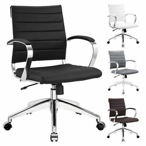 Image Is Loading Jive Office Chair Ribbed Mid Low Back Executive