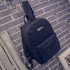 Women's Shoulder Schoolbag Sun Moon Canvas Rucksack Backpack Hike Camp Small Bag