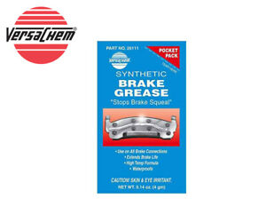 VERSACHEM Synthetic Brake Grease Blue Anti-Squeal Non-Melting 4g Pouch 26111
