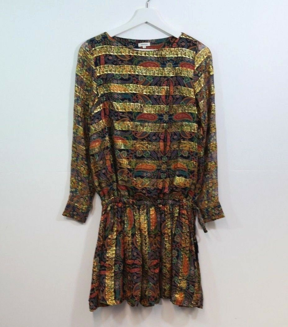 MANOUSH gold PRINT DRESS SIZE 6
