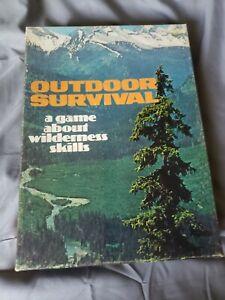 OUTDOOR SURVIVAL Game Wilderness Skills Vintage Avalon Hill 1972 Complete
